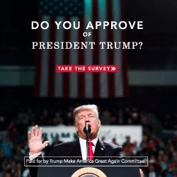 DO YOU APPROVE OF PRESIDENT TRUMP TAKE THE SURVEY
