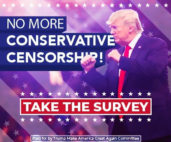 NO MORE CONSERVATIVE CENSORSHIP!