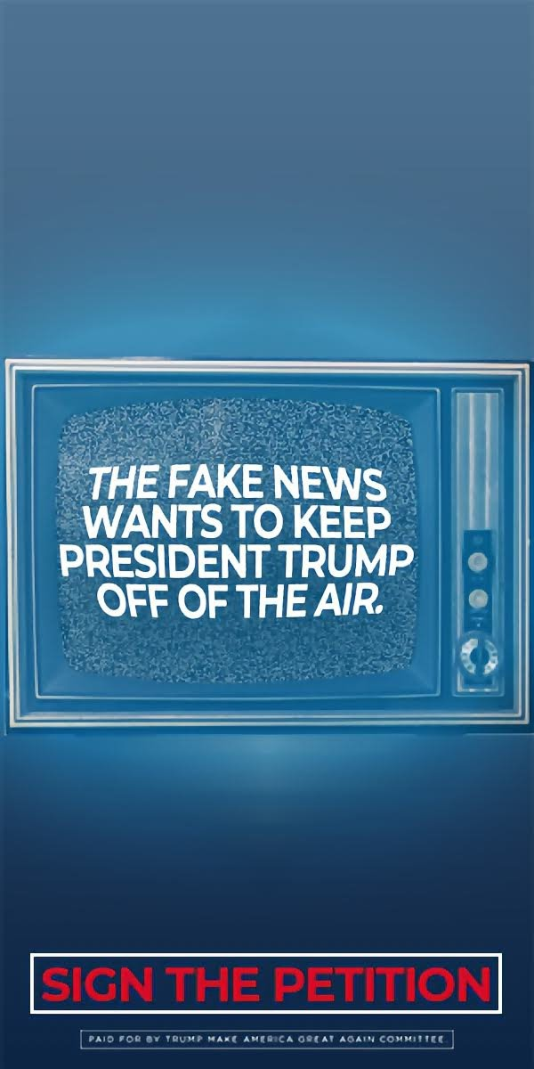 THE Fake News WANTS TO KEEP PRESIDENT TRUMP OFF OF THE AIR