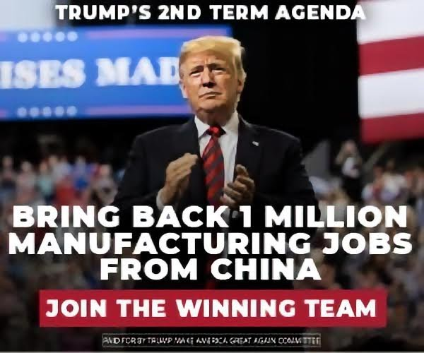 Bring back 1 million manufacturing jobs from China