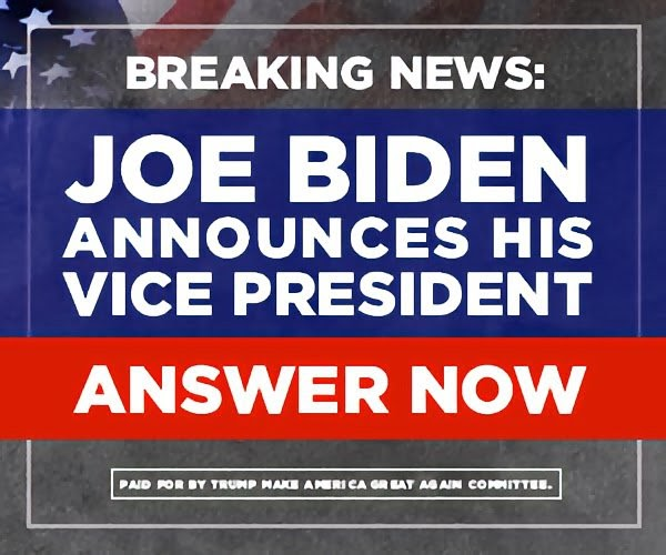 Joe Biden annouces his vice president