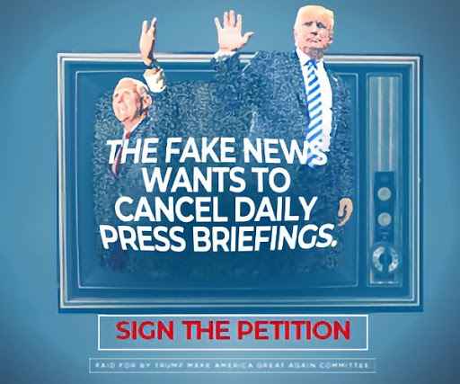 The Fake News Wants To Cancel Daily Press Briefings