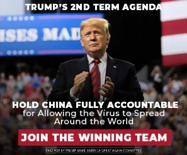 Trump's 2nd term agenda hold china fully accountable for allowing the virus to spread around the world