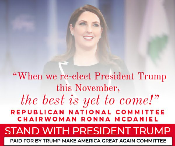 When we re-elect President Trump this november the best is yet to come!